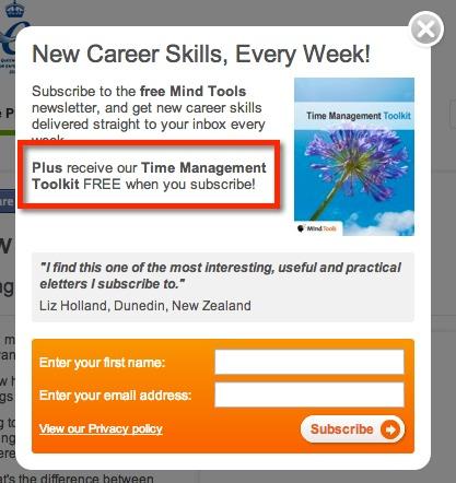 Новые навыки для карьеры каждую неделю! Подпишитесь на бесплатную рассылку Mind Tools и получайте новые навыки для карьеры каждую неделю прямо в свой почтовый ящик. Плюс получите наш Инструментарий для Управления Временем БЕСПЛАТНО после того, как вы подпишетесь!