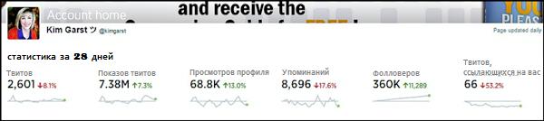 статистика twitter-аккаунта