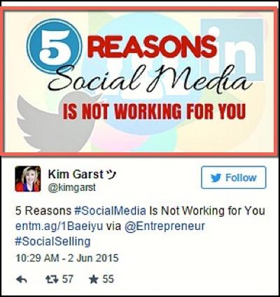 5 причин почему социальные медиа не работают для вас
