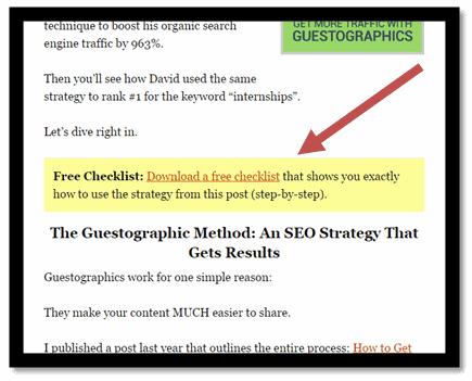 Апгрейд контента – это бонусный уникальный контент, непосредственно связанный с конкретной статьей в блоге