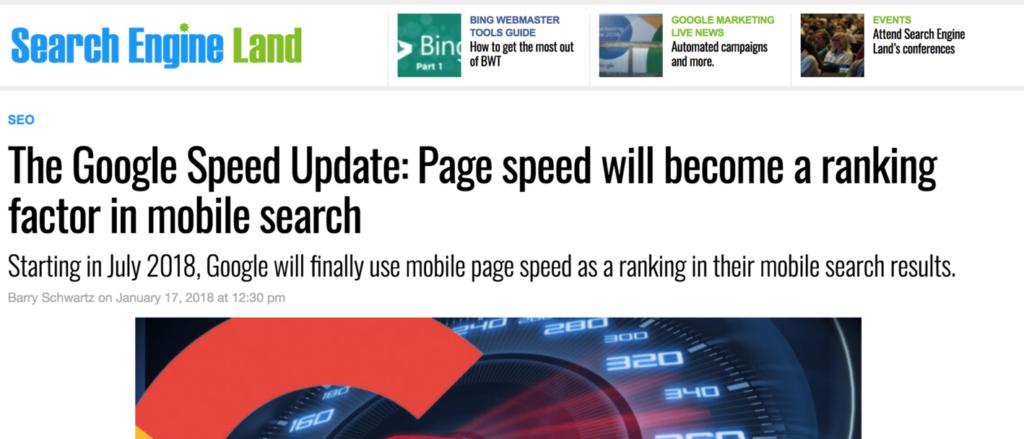 Обновление Гугл делает скорость загрузки сайта еще более важной