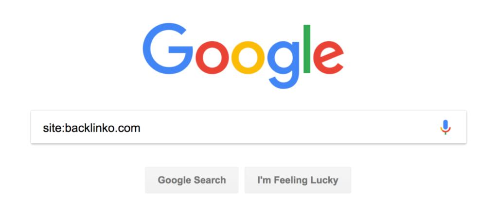'site:вашвебсайт' в Google